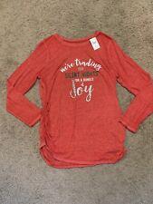NWT! Motherhood Maternity Ruched Christmas Top/Shirt - Size XL