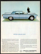 1963 LINCOLN Continental Vintage Original Print AD Blue car photo english chip