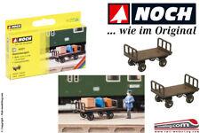 NOCH 14311 - H0 1:87 - Set 2 carrelli porta bagagli 3,2 x 1,4 cm