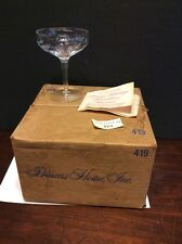 "Princess House Heritage 4 7/8"" Tall Sherbet/Champagne Glass Set Of 4 W/box #419"