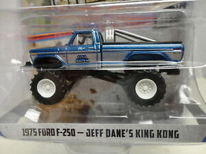 Greenlight 1975 FORD F-250 Blue '75 Jeff Dane's KING KONG Kings of Crunch S6