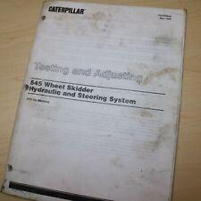 Caterpillar 545 Skidder Systems Test Adjust Service Manual Shop Cat Repair Book
