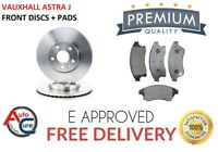 FOR VAUXHALL ASTRA J MK6 1.4 2009 - 2015 FRONT BRAKE DISCS AND PADS **NEW**