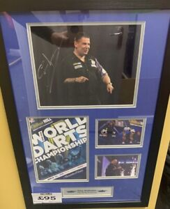 Gary Anderson Signed framed Programme  montague