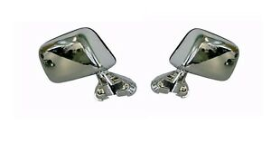 Pair of Door Mirror LH+RH Manual Chrome Skin Mount for Toyota Hilux 1988-2005