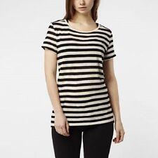Cotton Striped Plus Size Basic T-Shirts for Women