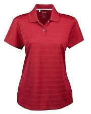 Women's Adidas Golf Clima Cool WCC Textured S/S Polo Shirt Red Size Small S