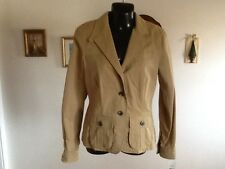 RALPH LAUREN COLLECTION  JACKET EQUESTRIAN  TAN SIZE S NWT