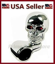 NEW CHROME SKULL CAR STEERING WHEEL SPINNER HANDLE AUTO/TRUCK 1 SUICIDE KNOB