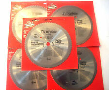 """5 VERMONT AMERICAN BY BOSCH 7-1/4"""" CIRCULAR SAW BLADES 150T 150 TOOTH PLYWOOD"""