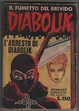 DIABOLIK prima serie N.3 ingoglia L' ARRESTO DI DIABOLIK originale 1963 1a I