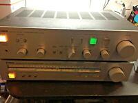 Vintage Yamaha Natural sound stereo amplifier A-550 and Yamaha T-550 Natural Sou