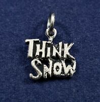 Think Snow - Small Vintage Charm - 925 Sterling Silver