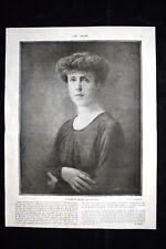Elisabeth, Reine des Belges Général Léman WW1 Guerra 1914 - 1918