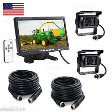 "7"" REAR VIEW BACKUP CAMERA SYSTEM FOR SKID STEER,RV, FORKLIFT, BOX TRUCK"