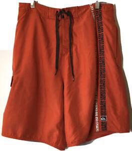 Quiksilver Swim Trunks Mens Size L Orange