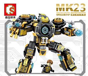 Cartoon Heroes MK23 Armor Mark Builiding Blocks Bricks Figures Models kids Toys