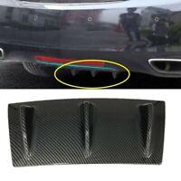 S SIZVER 1 x Carbon Style Rear Lower Bumper Diffuser Fin Spoiler Lip Wing Splitter 34x6