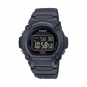 Casio Men's Sports Digital Quartz 7-yr Battery Black Resin Watch W219H-8BV