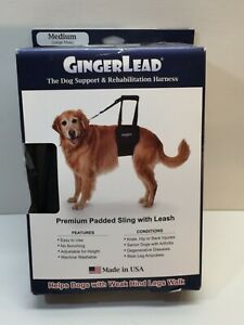 Gingerlead Dog Support & Rehabilitation Harness Medium/Large Male Dog sling leg