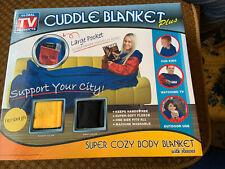 Black/Yellow Pittsburgh Cuddle Blanket Throw Super Cozy Body Blanket w/Sleeves