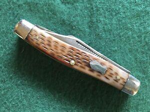 Vintage SCHRADE WALDEN,NY 3 Blade 880 Stockman