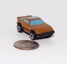 Small Micro Machine Plastic 80's Mazda RX-7 in Bronze