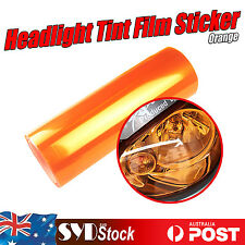Orange Car SUV Headlight Tint Film Overlay Light Cover Sticker 2 x 30cm x 40cm