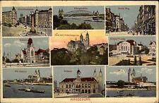 Magdeburg Mehrbild AK 1926 Königsbrücke Theater Rahaus Hasselbachplatz Museum