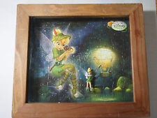 Disney Disneyland CUSTOM MADE PUZZEL AND FIGURE Tinkerbell Shadow Box