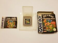 Joe & Mac :CAVEMAN NINJA Nintendo Game Boy Pal España y completo 100% ORIGINAL
