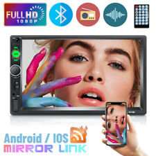 """7""""  2DIN Double Car Radio Touch Screen Bluetooth Mirror Link SD AUX  MP5 Player"""
