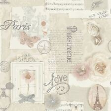FELICITY PARIS WALLPAPER - NATURAL - ARTHOUSE 665400 BUTTERFLY ROSE