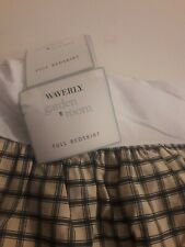 Waverly Wellington black creme plaid bedskirt ~ full