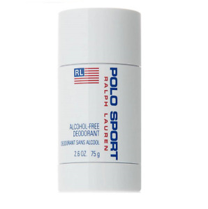 POLO SPORT Ralph Lauren White Deodorant Stick Men 2.6 oz Alcohol Free NEW