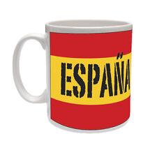 Espagne / espagnol drapeau avec ESPANA-Europe / European / cadeau tasse en céramique à thème