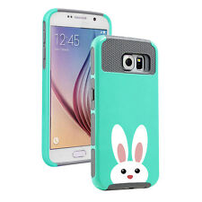 For Samsung Galaxy S5 S6 S7 Edge S8 + Shockproof Hard Case Peeking Bunny Rabbit