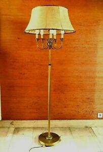 Pied de lampadaire en bronze et laiton Bras en cor de chasse XX siècle
