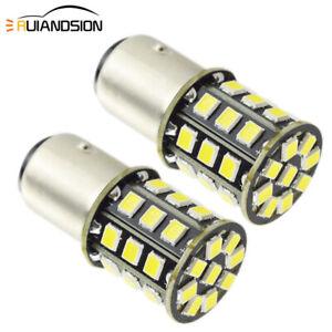 2pcs 10-30V 1157 33SMD 2835 LED Brake Stop Tail Light BAY15D Car Bulb 6000K