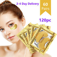 120pc Gold Crystal Collagen Eye Mask Patch Pad Wrinkle Anti Aging Dark Circle