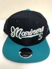 New Era Seattle Mariners Youth Navy/Aqua Authentic Collection Cap,ONE SIZE