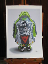 Valentino Rossi Moto GP Team Movistar Yamaha Motorcycle 13x19 inch art print