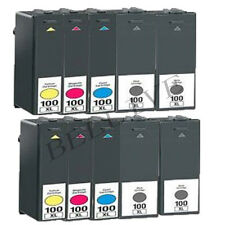 10 CARTUCCE 100XL PER LEXMARK S300, Pro901, S816 Genesis, S600, S602, S608, S301