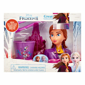 Disney Frozen II 3-Piece Great Smile Anna Toothbrush and Holder Set (R-L)