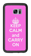 Pink Keep Calm and Carry On For Samsung Galaxy S7 G930 Case Cover by Atomic Mark
