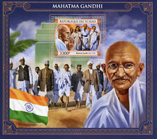 Chad 2017 MNH Mahatma Gandhi 1v S/S Historical Figures Famous People Stamps
