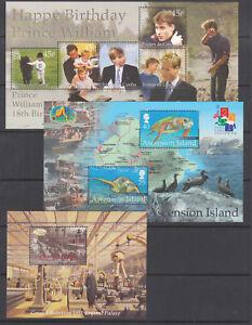 Ascension Island Sc 759, 768, 783 MNH. 2000-01 Souvenir Sheets, 3 different
