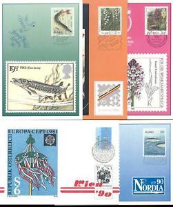 ALAND 1990 Ausstellungskarten/Exhibition Cards komplett