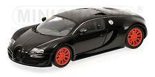 MINICHAMPS 100 110842 BUGATTI VEYRON SUPER SPORT model car black metallic 1:18th