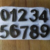 10 stabile Zahlen Silber Strass Stecken Dekozahlen Metall Hochglanz Royal